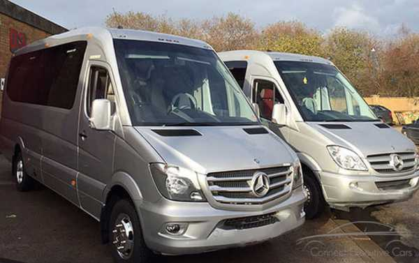 Luxury Mercedes 16 Seater Mini Coaches With Tables